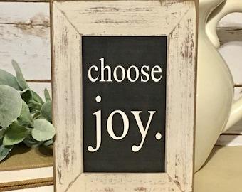Choose Joy Inspirational Sign,Rustic Sign,Farmhouse Sign,Rustic Decor,Inspirational Gift