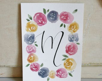 Customized Floral Wreath with Letter (2 Styles)