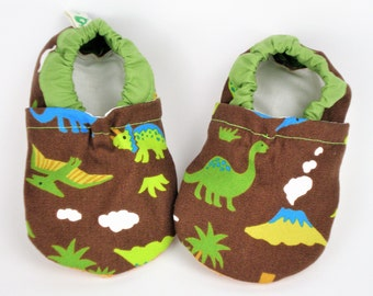 Soft sole dinos baby shoes Baby boy mocassins Indoor baby shoes First walker shoes Toddler vegan shoes Infant slippers Baby gift