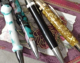 Exotic Writing Pens, Hand Crafted With High Quality Parts and Finish, Anniversary, Birthday, Boss, Gift ideas