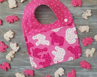 NEW item: Infant Drool Bib- Circus Animal Cookies