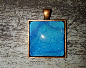 Handmade Square Pendant Necklace