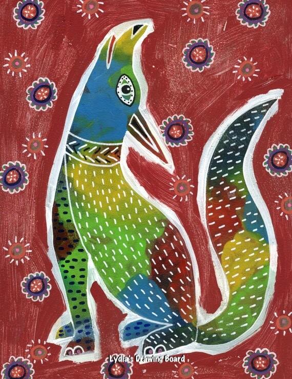Coyote, Coyote Art, Coyote Art Print, Coyote Artwork, Coyote Print, Mexican Art, Mexican Folk Art, Animal Art, Animal Artwork, Animal Prints