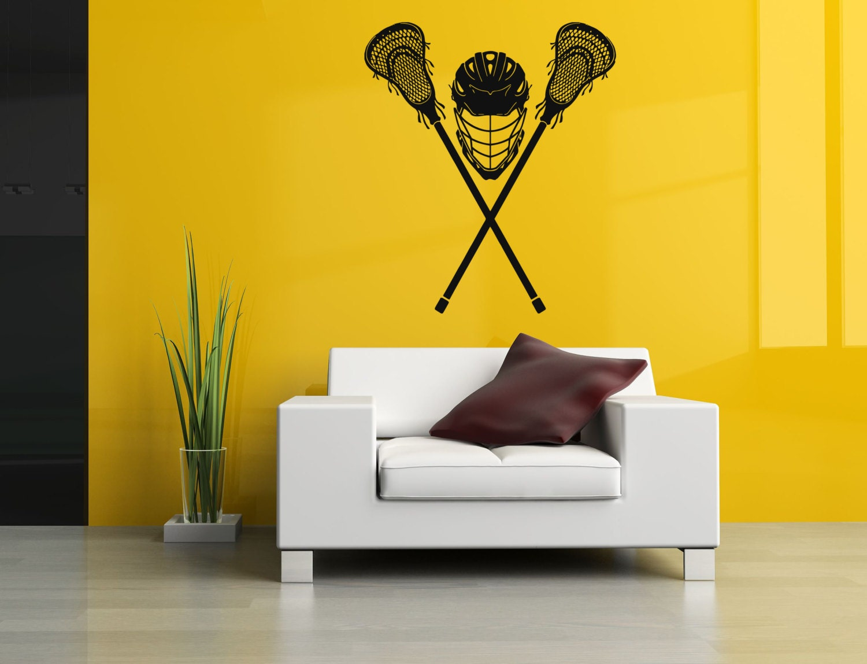 Removable Vinyl Sticker Mural Decal Wall Art Decor Lacrosse