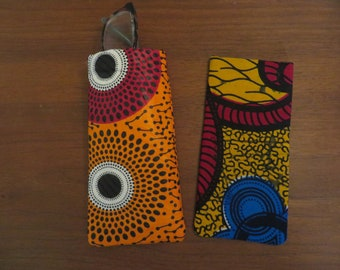 One Handmade African Fabric Sunglass Eyeglass Holder Your Choice In Color