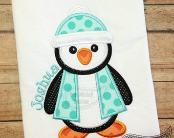 Penguin Applique Shirt or Onesie Boy or Girl Choose your color!