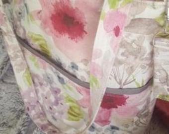 Lovely Floral Print, beach bag, tote bag