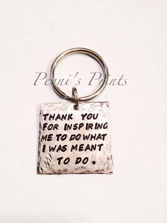 Hand stamped thank you for inspiring me to do what i was meant zoom negle Image collections