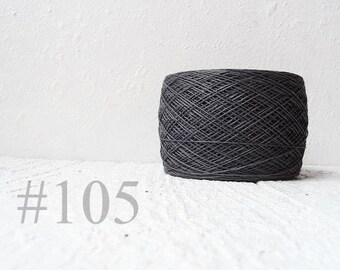 grey linen crochet thread # 105