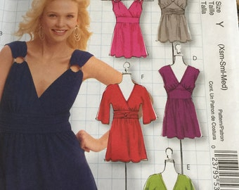 McCall's M5662 Pattern DIY style top, tunic dress  New Xsm-Sml-Med