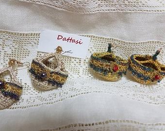 Sicilian Coffee Earrings