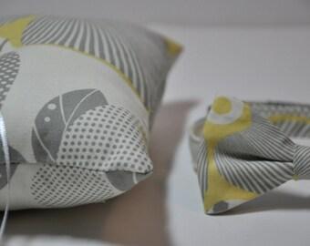 Simply Modern Ringbearer Set Grey Graphic Blossom