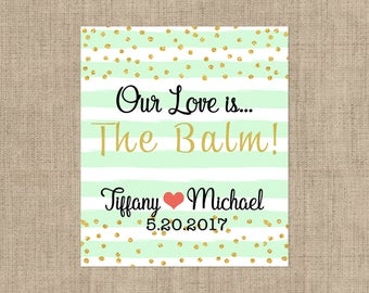 Lip Balm Labels - Personalized Lip Balm Labels - Our Love is... labels - 1 Sheet of 12 Lip Balm Labels - Custom Lip Balm Labels