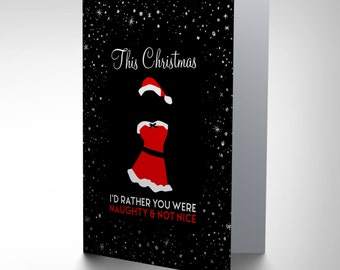 Christmas Card - Sexy Santa Funny Naughty Nice Kinky Gift CP3088