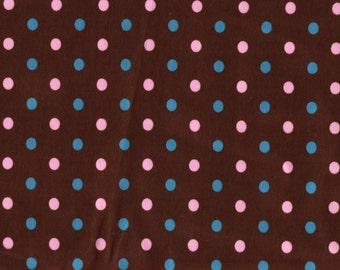 European knit polka dot fabric