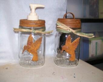 Mason jar Hummingbird Set
