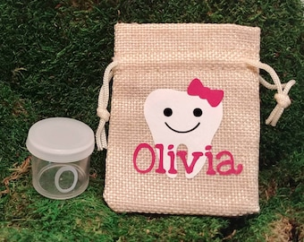 Tooth Fairy Pouch, personalized lost tooth pouch, lost tooth bag, lost tooth container