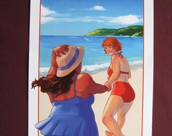 Art Print - Beach Summer Fun