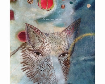 Original painitng  Fox Guided By Moons