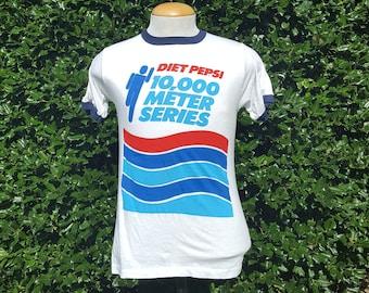 Diet Pepsi 10,000 Meter Series Ringer Shirt. Size M.