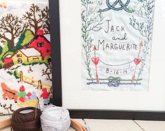 Wedding Sampler Embroidery Pattern