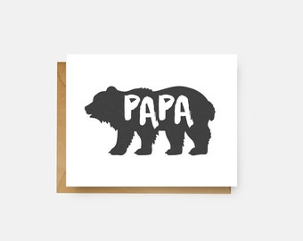 Father's Day Card // Papa Bear // Rustic // Papa Bear Card // Funny Father's Day // Dad // Card for Dad // Dad Card // The Busy Bee