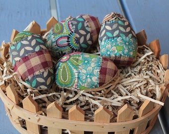 Primitive Easter Eggs-Colorful Easter eggs-Set of 4 eggs-Springtime decor-Country Easter-Rustic Egg bowlfillers-primitive eggs