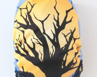Halloween Rising Moon Snap Closure Diaper