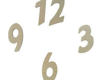 Wooden numbers for watches and DIY