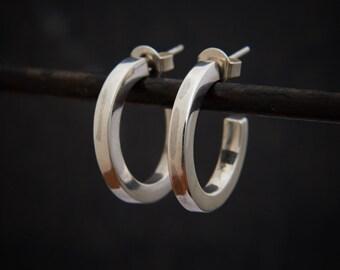 Silver Hoops, Silver Hoop Earrings, Simple Hoops, Everyday Earrings, Sterling Silver, 925