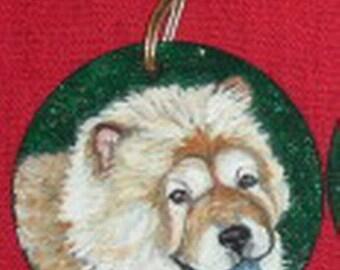Chow Chow dog Custom Hand Painted Christmas Ornament Decoration