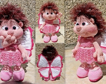 Butterfly Elf Doll  PATTERN crochet amigurumi