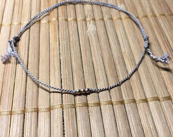 Simple GREY thin bracelet with beads