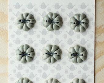 Light Green Ceramic Pumpkin Buttons