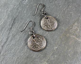 Celtic Knot earrings ~ Artisan Handcrafted