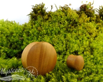 """Wood Ear Plugs gauges flared stretchers - Kadamba Wood - Double flared - 1 pair - Sizes From 4mm (6G) To 50mm (2"""") - Handmade - Organic"""