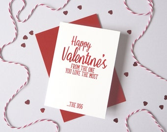 Valentine's Day card from Dog Cat – Personalised Valentine's Fur Baby Card – Card for wife husband from pet - dog valentine's card