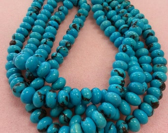 Turquoise Color Dyed Magnesite Beads