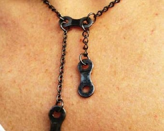 Bike chain necklace