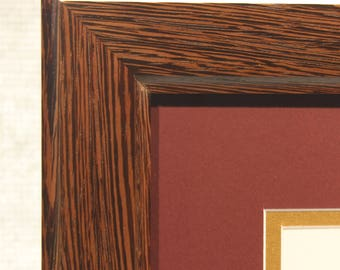 Exotic Wenge Diploma Frame, High End Office Decor, 11 x 14 Diploma