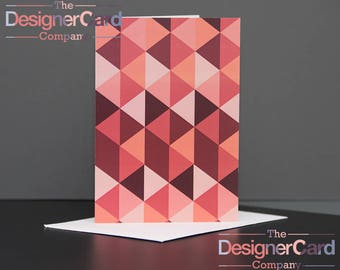 Coloured Triangles Pattern Greeting Card
