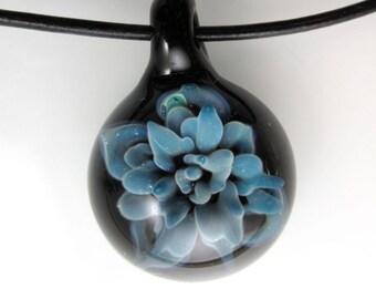 Glass Succulent-Glass Pendant- Glass Plant