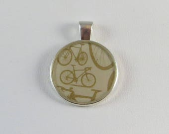 Vintage Bicycle Pendant, Necklace or Keychain