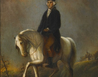 Alfred Jacob Miller: George Washington at Mount Vernon. Fine Art Print/Poster. (003851)