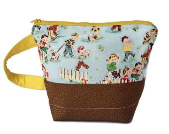 Small Zippered Project Bag