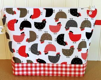 Knitting Project Bag, Knitting Bag Zipper, Yarn Knitting Bag, Yarn Tote, Knitting Tote, Knitting Zipper Bag, Yarn Bowl, Zippered Bag