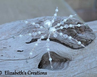 Spider Suncatcher, Christmas Spider Ornament with Christmas Spider Legend, Spider Ornament, Holiday Ornament, Sun catchers