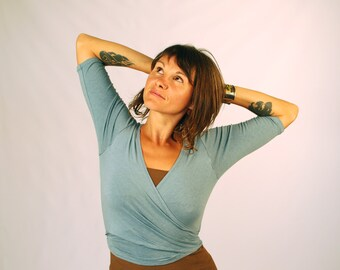 Yoga Shrug - Wrap Top -  3/4 Sleeve for Women - Eco Friendly - Organic Clothing - Several Colors