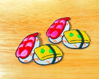 Set 2pcs. Little Japanese Sushi Food New Sew / Iron On Patch Embroidered Applique