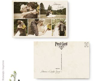 """Vintage Wedding Thank You Cards, 4x6, Thank you postcards - the """"Adrianna"""""""